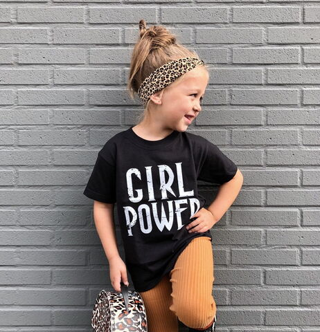 Girl,Power,Black,or,White,T-Shirt,girl power, girl gang, girl squad, pwr, tee, top, tshirt, kids, youth, infant, toddler, trendy t-shirt, shirt, cool, girls outfit