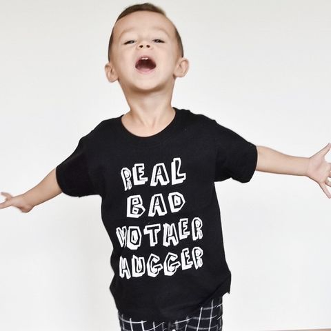 Real,Bad,Mother,Hugger,Black,or,White,T-Shirt,real bad mother hugger, tee, top, tshirt, kids, baby, youth, infant, toddler, trendy t-shirt, shirt, unisex, cool, boy, girl, funny, mothers day,