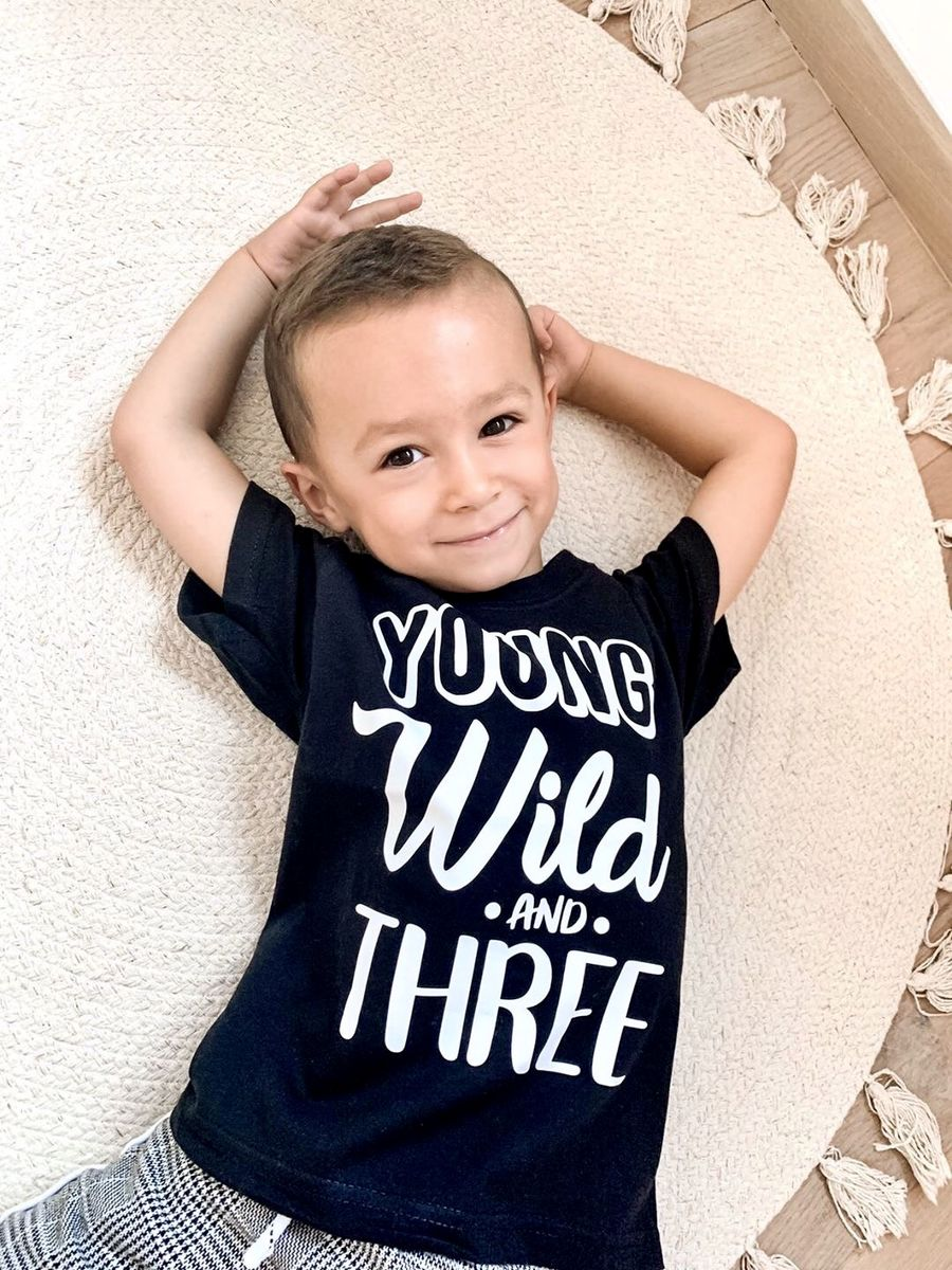 Young Wild & Three Black or White T-Shirt - product images  of
