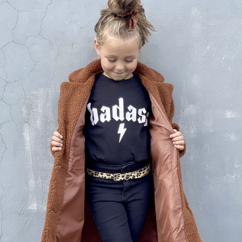 Badass,Black,or,White,T-Shirt,badass, bad ass, gangster, hip hop, birthday, wild child, wild thing, wild one, rock n roll, heavy metal, rocker, kid alternative, funny kids shirt, baby, youth, infant, toddler, trendy t-shirt, shirt, boy, girl, unisex, funny gift, tee, top