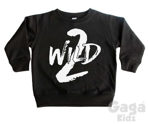 2,Wild,Sweatshirt,toddler sweater, birthday jumper, two wild, 2 wild child, kids sweatshirt, kids sweater, crew neck sweater, second birthday top, 2nd birthday outfit, baby sweater, baby sweatshirt, toddler crew neck, wild child, 2nd birthday gift, too wild,