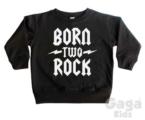 Born,Two,Rock,Sweatshirt,toddler sweater, birthday jumper, born two rock, two wild, 2 wild child, kids sweatshirt, kids sweater, crew neck sweater, second birthday top, 2nd birthday outfit, baby sweater, baby sweatshirt, toddler crew neck, wild child, 2nd birthday gift