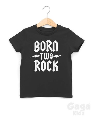 Born,Two,Rock,Black,or,White,TShirt,born two rock t-shirt, born to rock baby tshirt, rock and roll kids tees, two wild, 2nd birthday outfit, gift for 2 year old, turning 2 shirt, alternative toddler gift, born to be wild