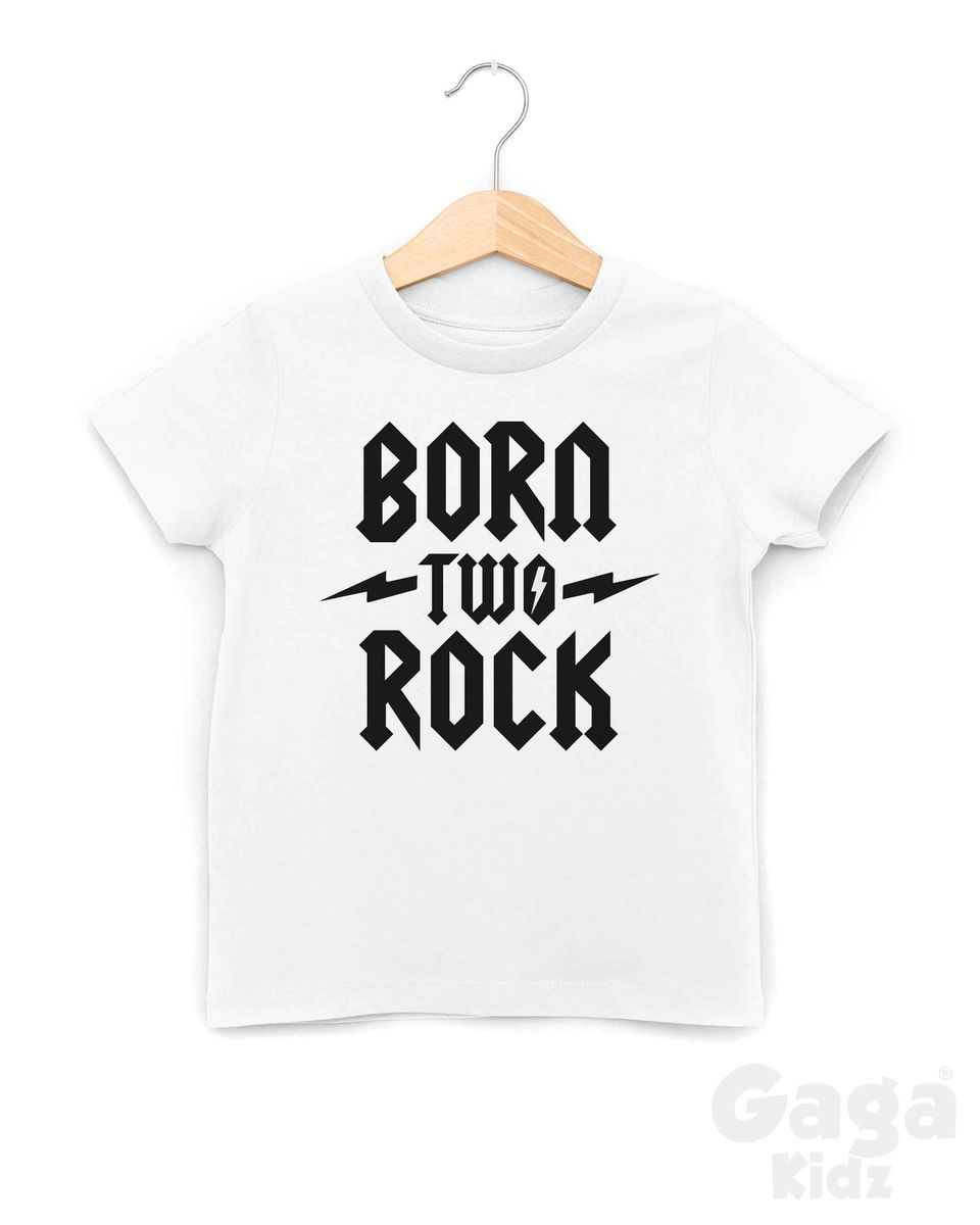 Born Two Rock Black or White TShirt - product images  of