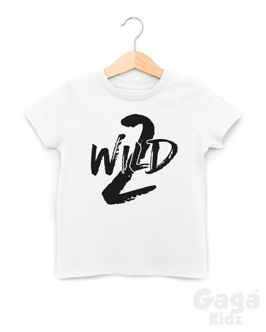 2,Wild,Black,or,White,T-Shirt,2 wild, too, two wild child, wild thing, two and wild, 2nd birthday party outfit gift, second tee, top, tshirt, kids, baby, youth, infant, toddler, trendy t-shirt, shirt, unisex, cool, boy, girl
