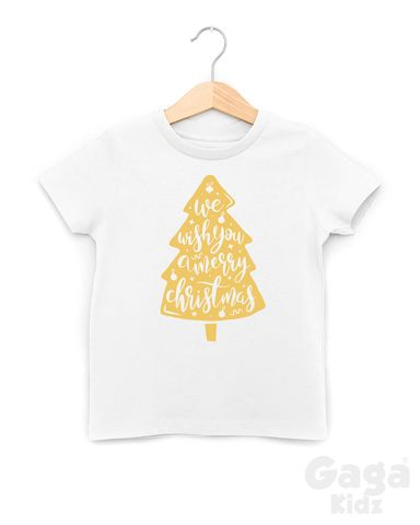We,Wish,You,A,Merry,Xmas,Black,or,White,T-Shirt,we wish you a merry christmas, family christmas tree, all i want for christmas is you, kids xmas t-shirt, baby tshirt, youth holiday tee, festive season toddler top, stocking filler gift for child