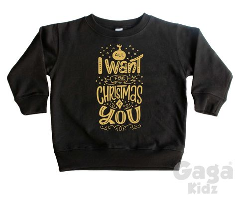 All,I,Want,for,Xmas,is,You,Sweatshirt,toddler sweater, infant jumper, kids sweatshirt, kids sweater, crew neck, christmas outfit, baby sweater, baby sweatshirt, toddler crew neck, first xmas outfit gift, stocking filler, all i want for christmas is you