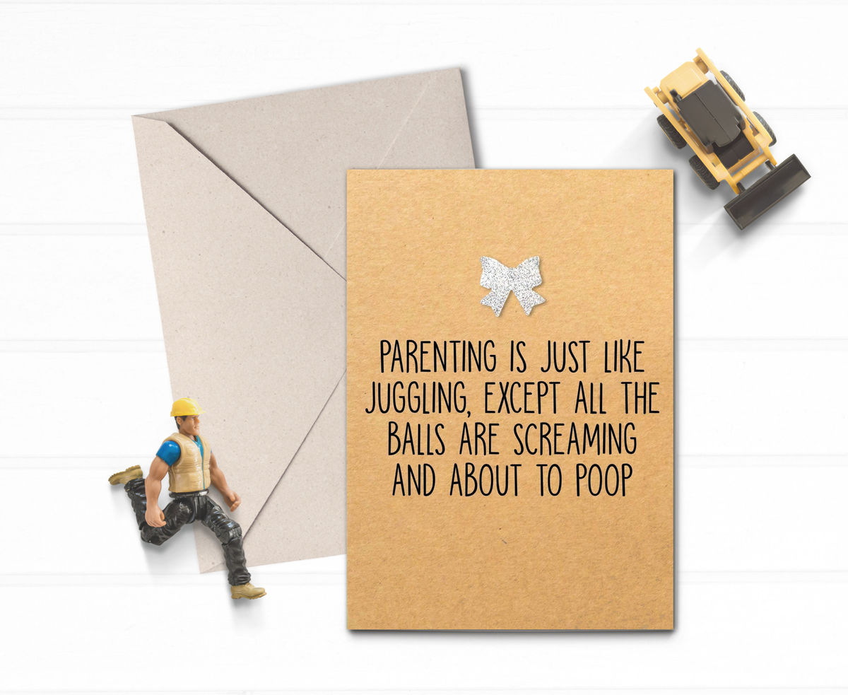 Parenting is just like juggling Card - product images  of