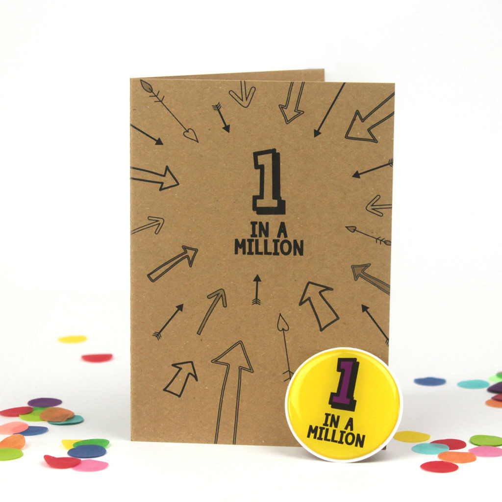 1 in a million 1st birthday Card - product images  of