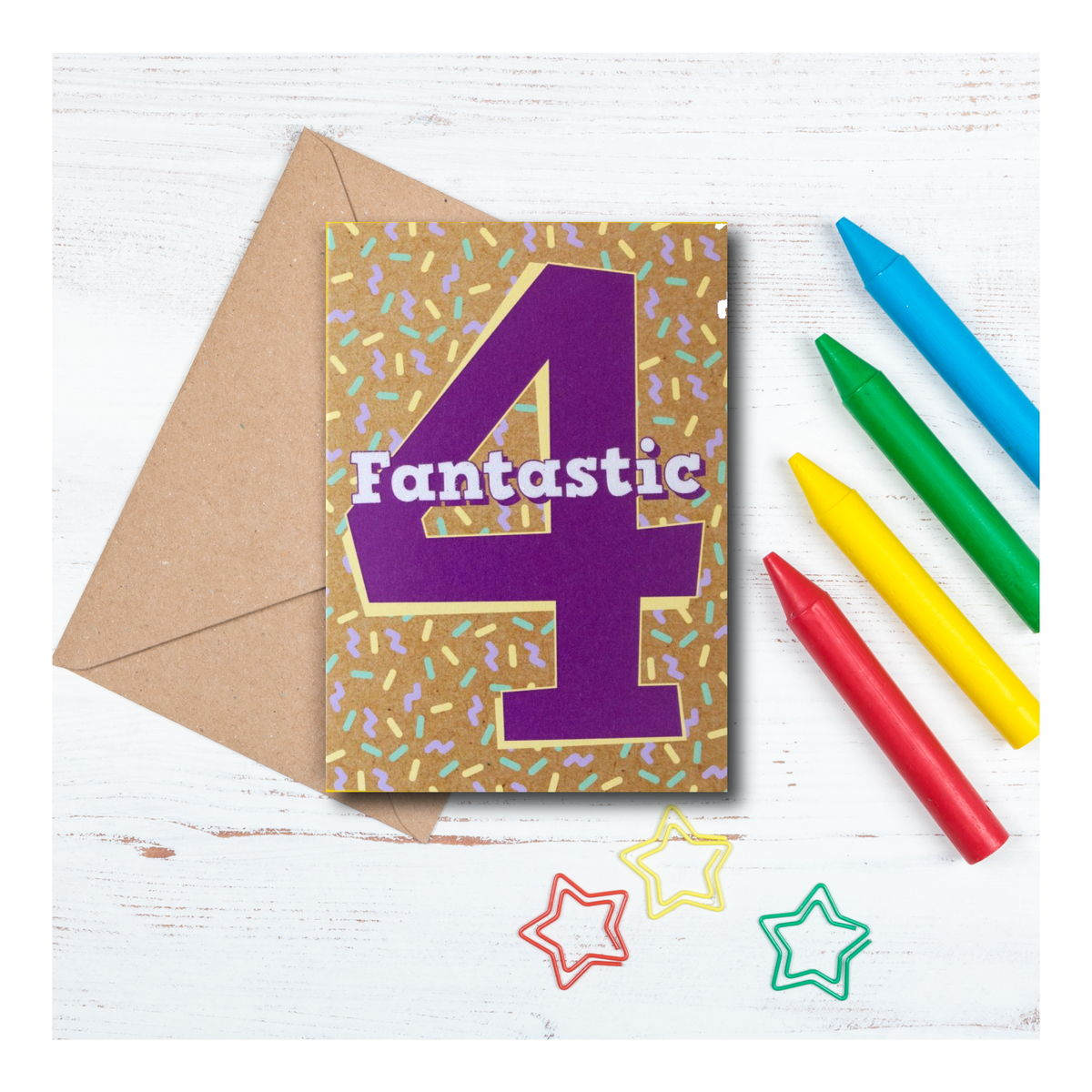 Fantastic 4 - 4th birthday Card - product images  of
