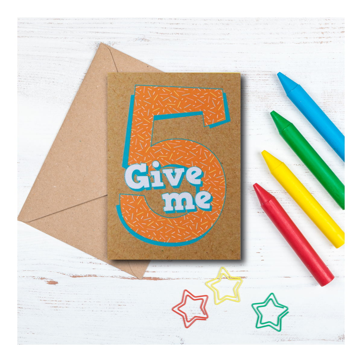 Give me 5 - 5th birthday Card - product images  of