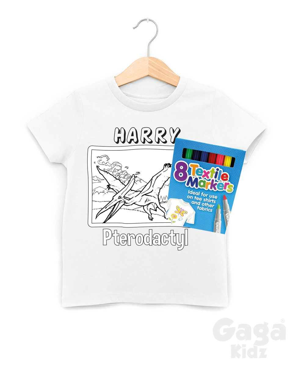 Custom Pterodactyl Colour-In T-Shirt - product images  of