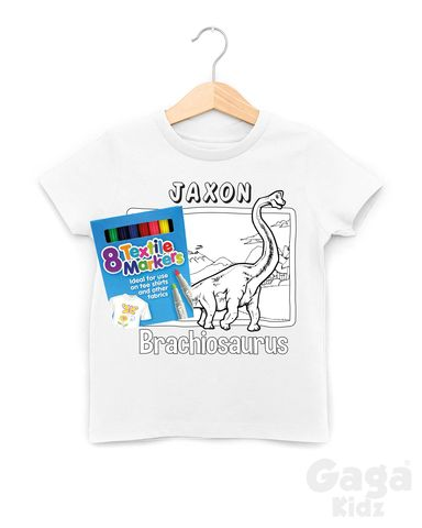 Custom,Brachiosaurus,Colour-In,T-Shirt