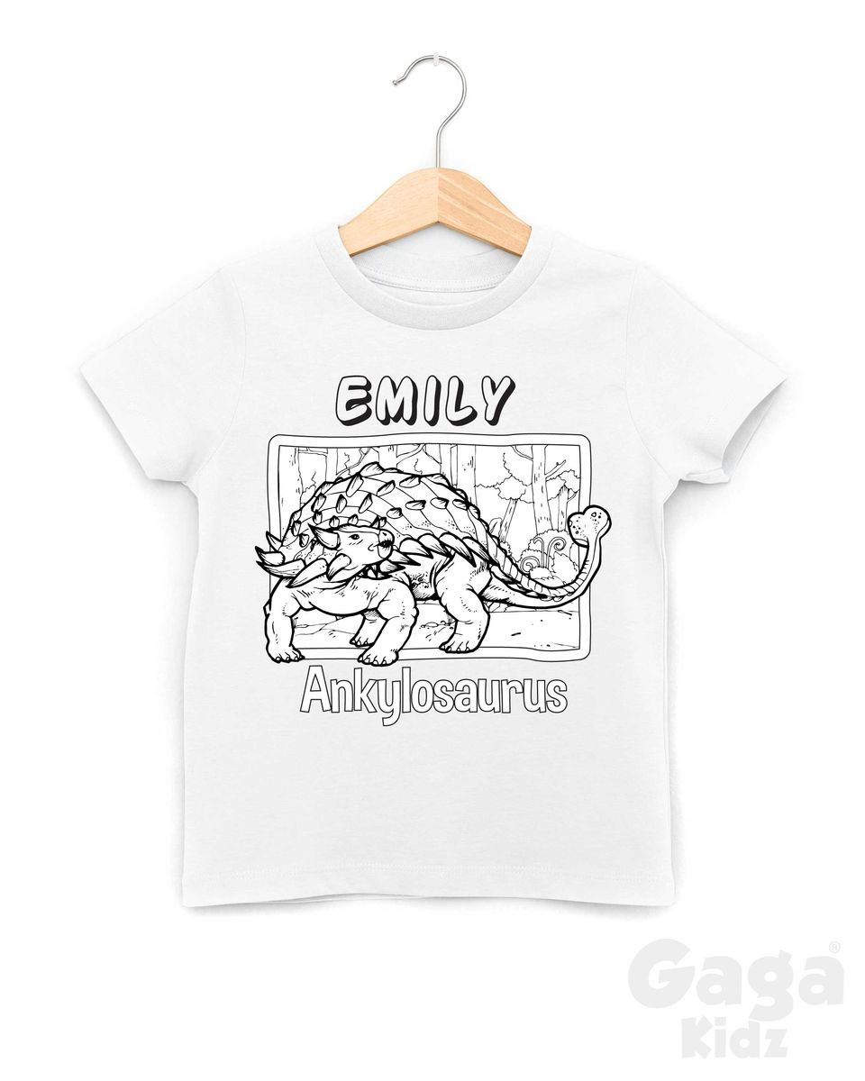 Custom Ankylosaurus Colour-In T-Shirt - product images  of