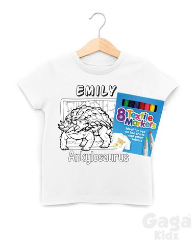 Custom,Ankylosaurus,Colour-In,T-Shirt
