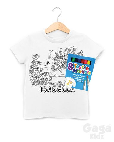 Custom,Rabbit,Colour-In,T-Shirt