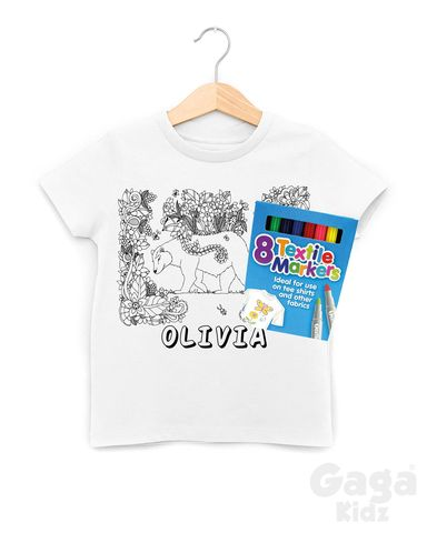 Custom,Bear,Colour-In,T-Shirt