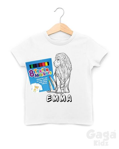 Custom,Lion,Colour-In,T-Shirt