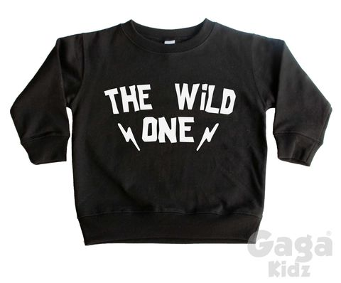 The,Wild,One,Sweatshirt,the wild ones, wild and one, kids sweatshirt, kids sweater, crew neck sweater, first birthday shirt, first birthday outfit, baby sweater, baby sweatshirt, toddler crew neck, wild child, 1st birthday gift