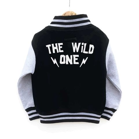 The,Wild,One,Varsity,Jacket,the wild one, rock and roll, varsity jacket, bomber jacket, kids varsity, kids jacket, kids spring jacket, kids summer jacket, cool kids jacket, rocker jacket, biker jacket, college style kids jacket, cool kids clothes