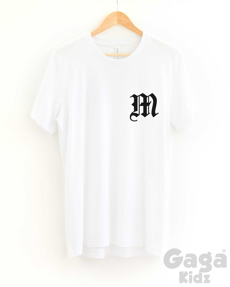 Custom Letter Adult Black or White T-Shirt - product images  of