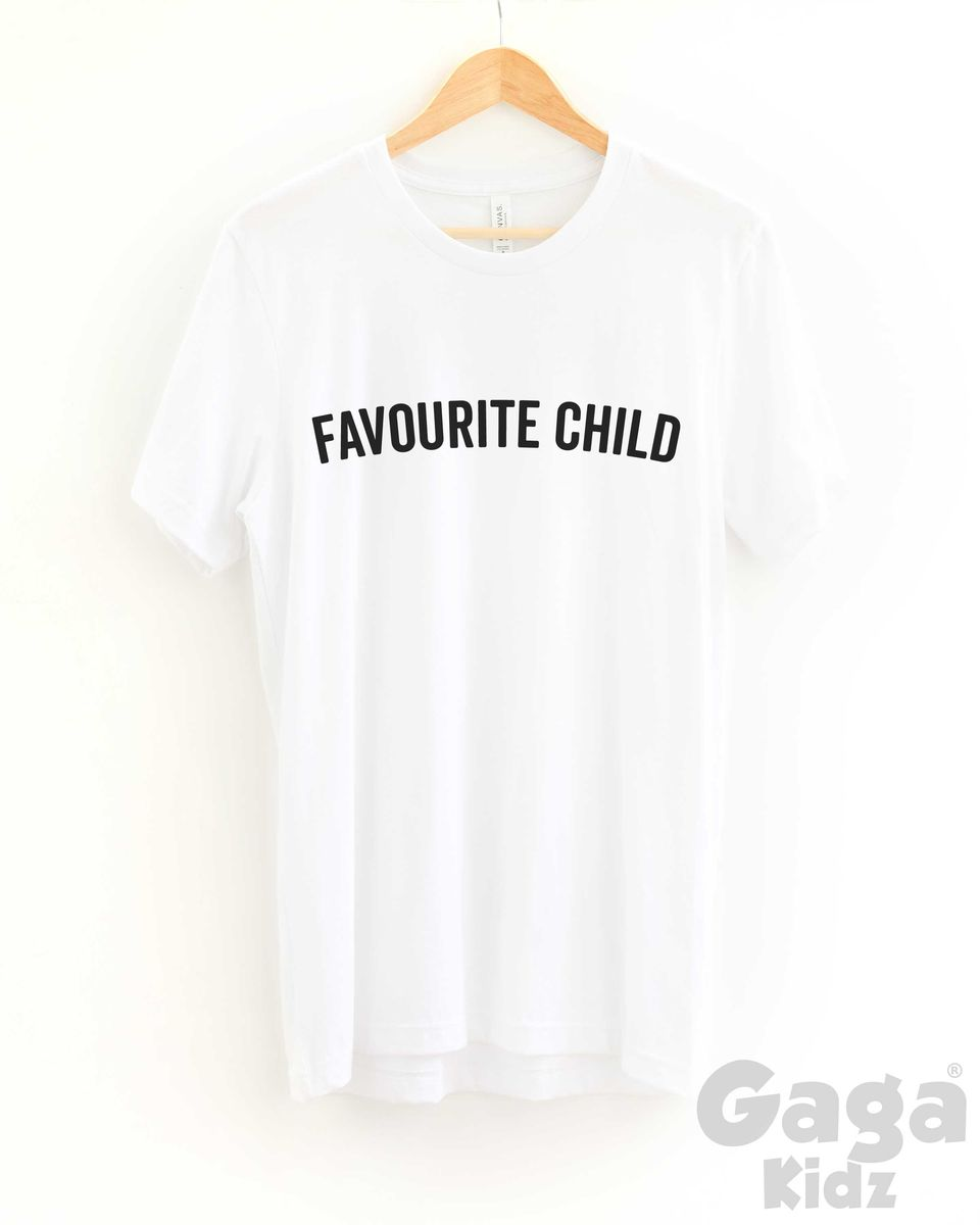 Favourite Child Adult Black or White T-Shirt - product images  of