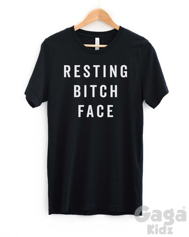 Resting,Bitch,Face,Adult,Black,or,White,T-Shirt,this is my resting bitch face t-shirt, rude tee, paranoid shirt, weirdo, loser, odd ball, geeky, geek, nerd, sarcastic shirt, antisocial tshirt, trendy fashion hipster, unisex adult t-shirt, funny birthday shirt, stocking filler gift