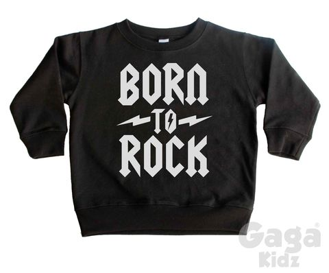 Born,to,Rock,Sweatshirt,born to be wild, toddler sweater, jumper, born to rock, rock n roll, wild child, kids sweatshirt, kids sweater, crew neck birthday top, heavy metal, alternative fashion, trendy kids apparel, hipster