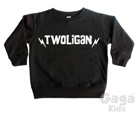 Twoligan,Sweatshirt,twoligan, toddler sweater, birthday jumper, two wild, 2 wild child, kids sweatshirt, kids sweater, crew neck sweater, second birthday top, 2nd birthday outfit, baby sweater, baby sweatshirt, toddler crew neck, wild child, 2nd birthday gift, too wild,
