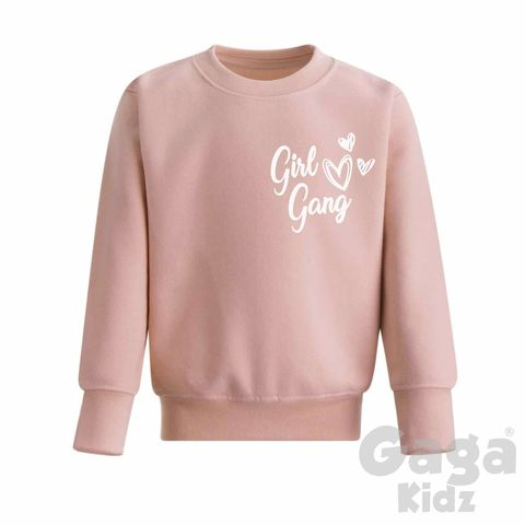 Girl,Gang,Dusty,Pink,Sweatshirt,dusty pink, girl gang, girl squad, besties, little feminist, wild girl, wild child, wild one, kids sweatshirt, kids sweater, crew neck sweater, baby sweater, baby sweatshirt, toddler sweatshirt, girls sweater, girls clothes