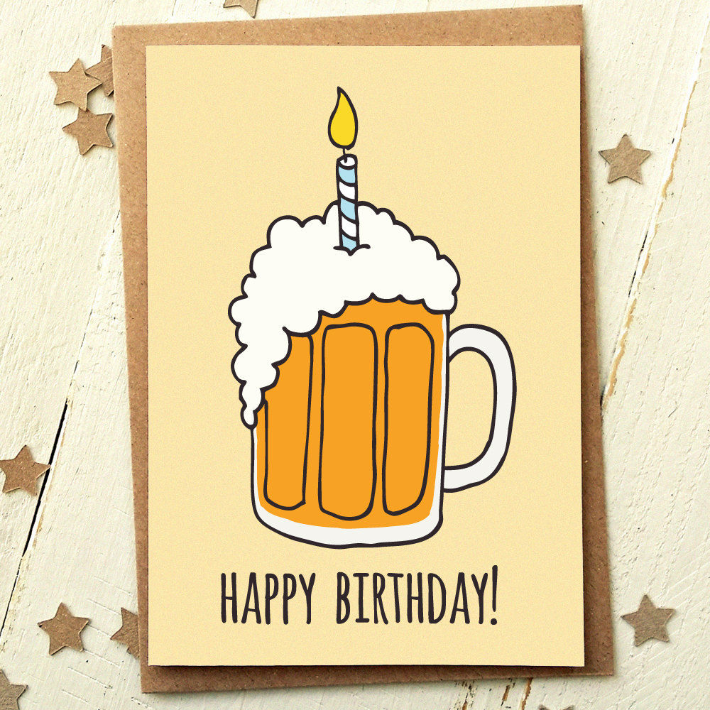 Beer Birthday Card Finch And The Fallow