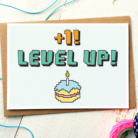 Funny illustrated cards collection finch and the fallow levelupbirthdaycardlevel up level up card geek bookmarktalkfo Gallery