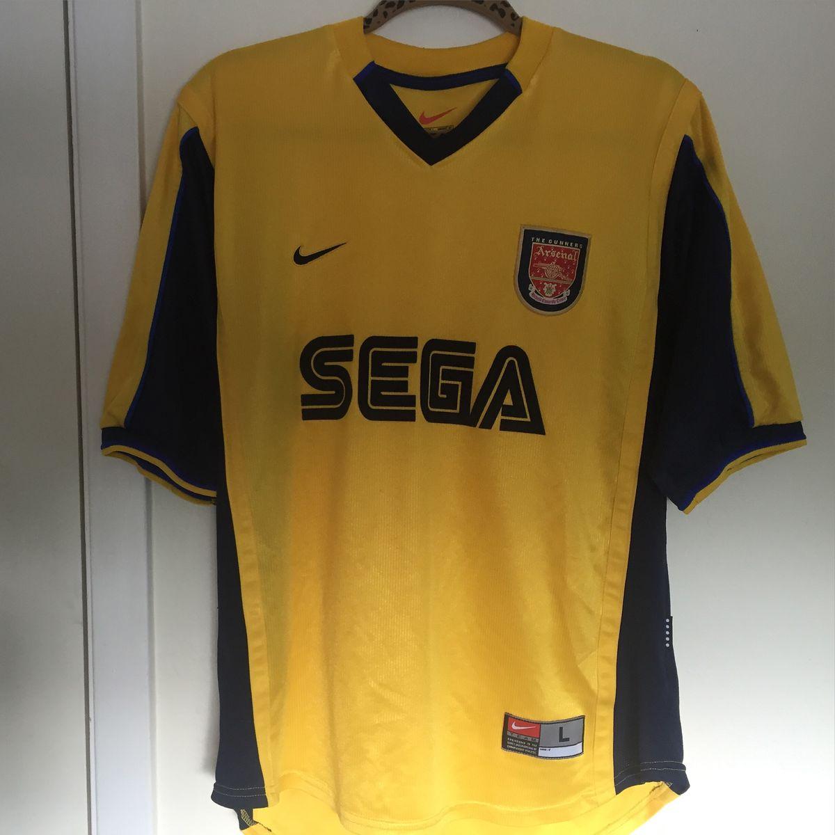 best service 74db1 54616 Vintage 1999 Nike Arsenal Sega Jersey ✨⚽️