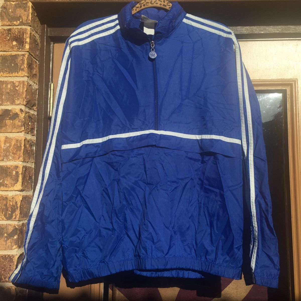Windbreaker Collar Vintage Adidas with In 90s Pull Hood Over 8IqvpI