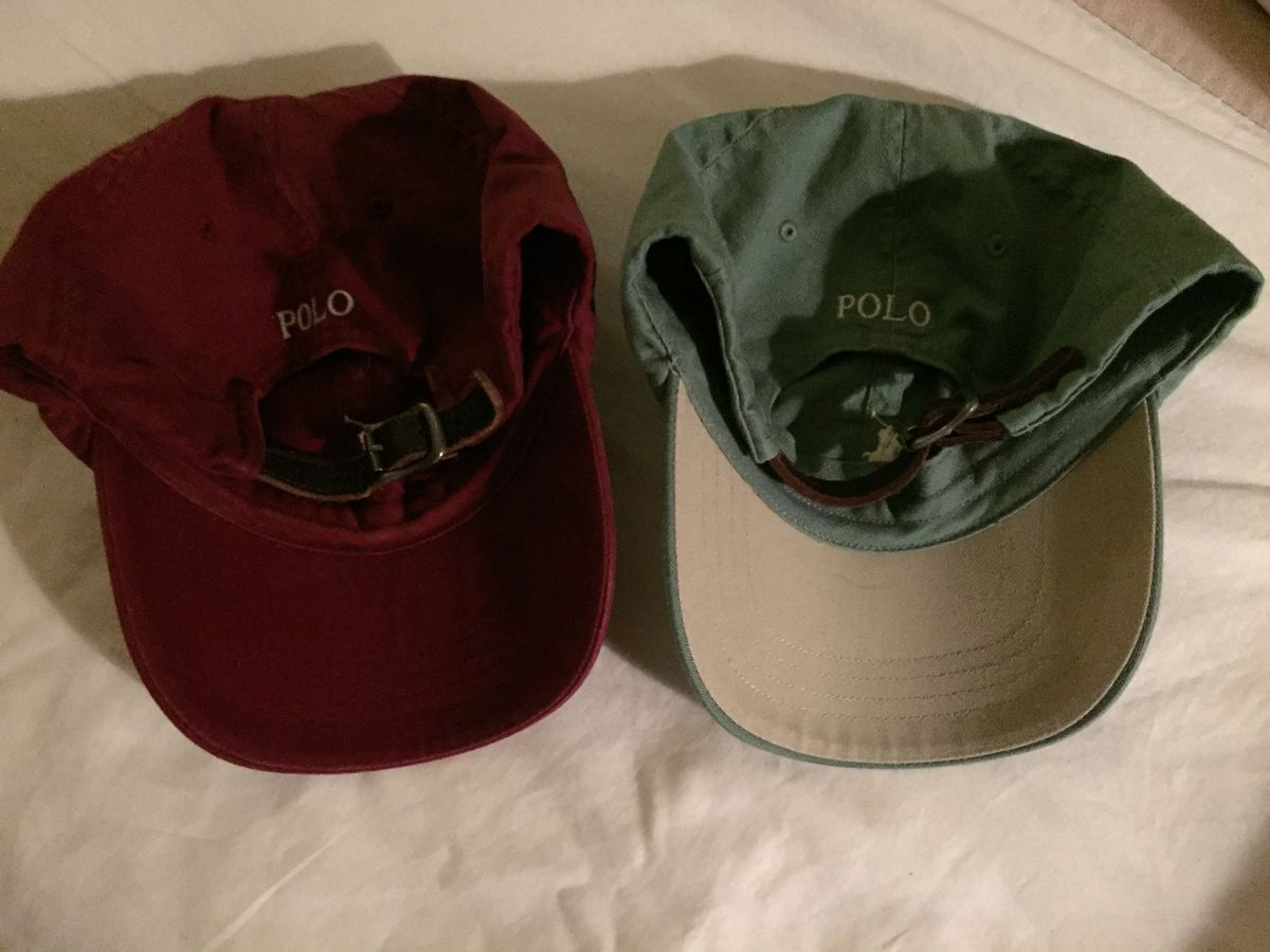 ff0ccaa6e ... Polo Ralph Lauren Leather Strap Back Hats (BOTH HATS) - product images  of