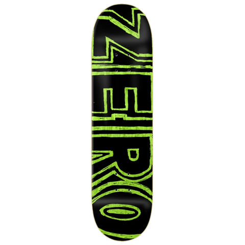 Zero,Hand,Drawn,Bold,Black,Deck,8.25″,Zero Hand Drawn Bold Black Deck 8.25, zero decks in london, skateshop london, halfpipe in london