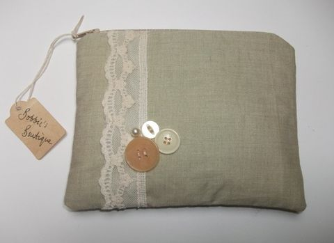 'Morning,Mist',Make,up,Purse,organic cotton, make up purse, cotton purse
