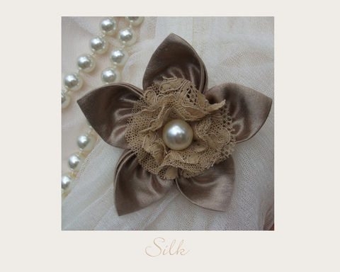 Gold,Silk,Brooch,brooch,silk,wedding,hemp,ethical brooch,wedding accessory,eco accessory