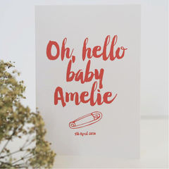Oh,Hello,Baby,Card,-,New,Girl,Boy,Personalised,Personalized,Paper_Goods,card,greetings_card,baby,new_mum,new_baby_card,personalised_card,custom_new_baby_card,christening_card,naming_ceremony_card,new_baby,baby_girl_card,baby_boy_card