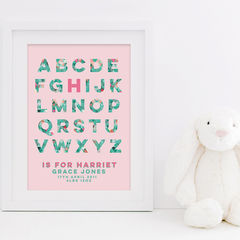 New,Baby,Print,-,Personalised,Nursery,Girl,Boy,Birth,Details,Gift,Art,Printmaking,letter_print,A4_print,8x10_print,typography_print,alphabet,personalised_print,nursery_print,customized_print,customisable_print,personalized_print,watercolour,new_baby_print,new_baby_gift