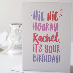 Hic,Hooray,Birthday,Card,-,Personalised,Happy,For,Her,Him,Boozy,Paper_Goods,card,greetings_card,happy_birthday,happy_birthday_card,birthday_card,hic_hic_hooray,hip_hip_hooray,funny_card,drinking,funny_birthday_card,pink,blue
