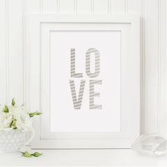 Silver,Love,Print,-,Romantic,Gift,for,Couples,Typography,Art,Printmaking,A4_print,typography_print,typography,art_for_the_home,stylish_art,wall_art,typography_art,print,silver_print,stripe,love_print,romantic