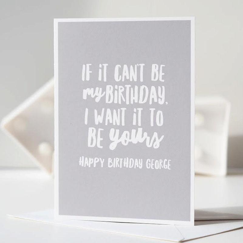 Funny Birthday Card Happy Birthday Card Personalised Card