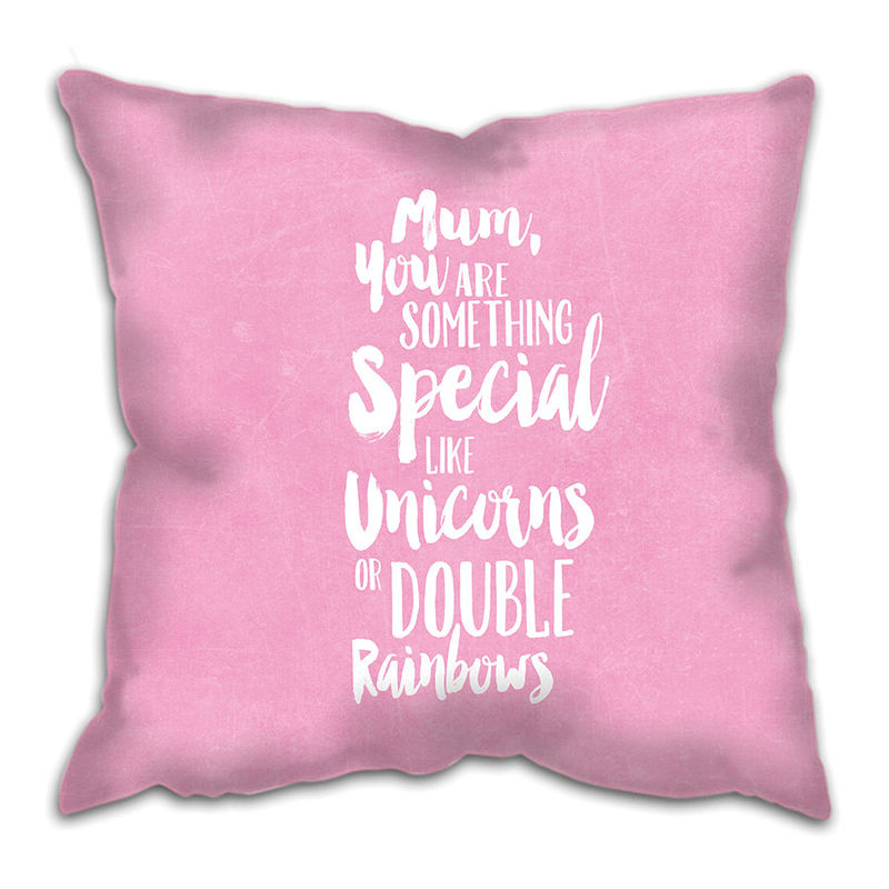Something Special Cushion - Custom Girl - Baby Girl Gift - Gift for Girl - Girls Bedroom - Unicorns Cushion - Custom Cushion - product images  of