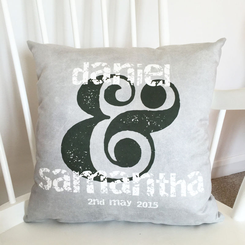 Couples Special Date Cushion - Personalised Cushion - Wedding Gift - Engagement Gift - Gift For Couples - product images  of