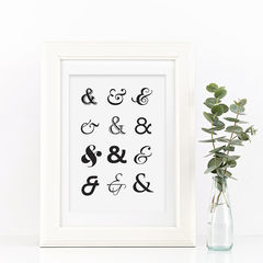 Ampersand,Print,-,Typography,Black,and,White,Monochrome,Art,for,the,Home,Printmaking,typography_print,black_and_white,typography,art_for_the_home,stylish_art,wall_art,typography_art,ampersand,black_print,ampersand_print,monochrome_print,and_print,ampersand_art