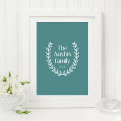Family,Laurel,Print,-,Custom,Typography,for,the,Home,Personalised,Art,Printmaking,typography_print,typography,typography_art,custom_print,family_print,family_gift,laurel_print,personalised_print,personalized_print,gift_for_family,new_home_gift,house_warming_gift,sweetlove_press
