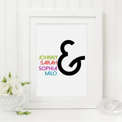 Family,Ampersand,Print,-,Personalised,Custom,Typography,Art,Printmaking,A4_print,typography_print,typography,10x8_print,wall_art,typography_art,print,personalised,custom_print,personalized,family_print,family_gift,new_baby_gift
