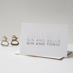 Gin,and,Tonic,Christmas,Card,-,Jingle,Bells,Gingle,Paper Goods,card,christmas card, christmas, gin card, jingle bells, gingle bells, gin and tonic, funny christmas card, christmas card for gin lover