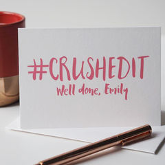 Crushed,It,Personalised,Card,-,Congratulations,Well,Done,Exam,Driving,Test,Paper Goods,card,congratulations card, new job card, driving test card, well done card, crushed it card, congratulations